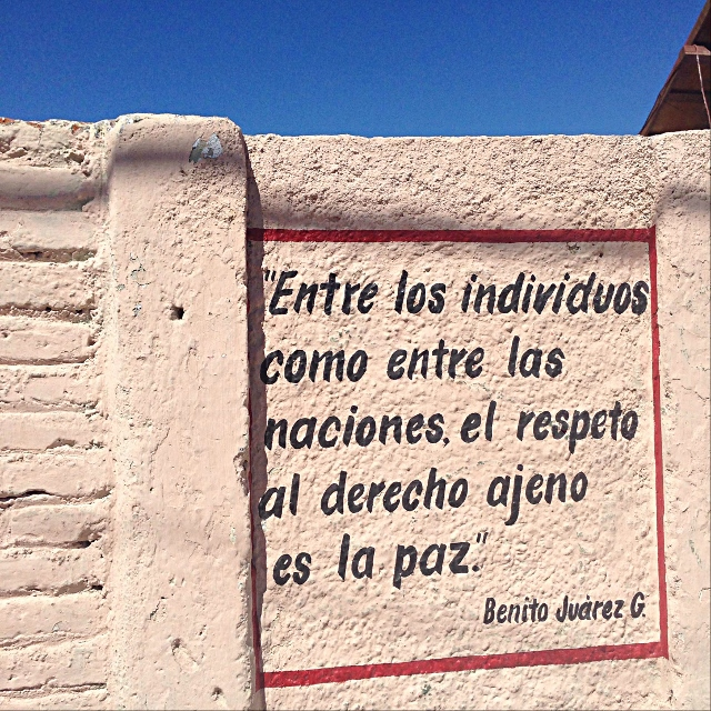 Our Leap Year | 20Oct13 | Famous Quote from Benito Juarez