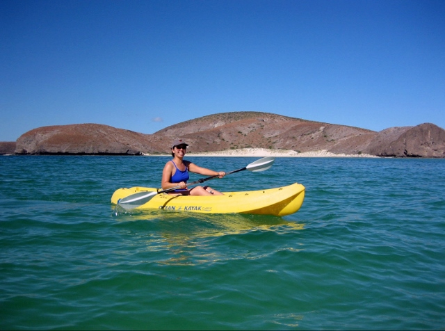 Kayaking at Playa Balandra