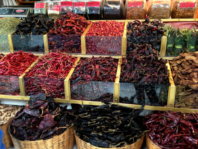 Chiles from a Mexico City mercado