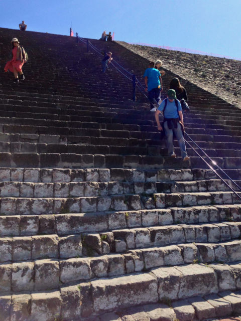 Teotihuacan Pyramid Stairs