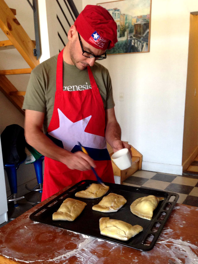 Cooking empanadas in Chile