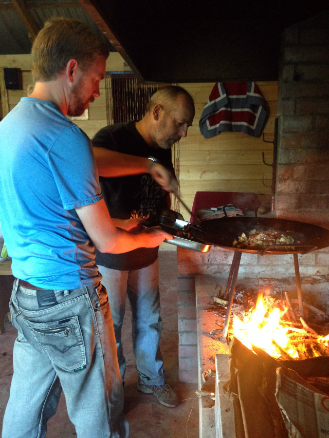 Cooking at El Castano Chiloe