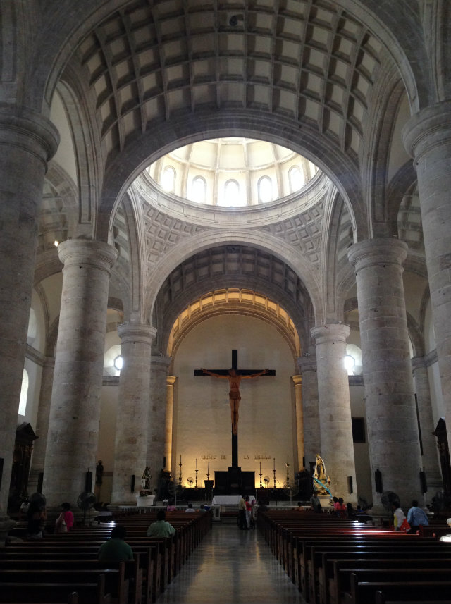 Inside Merida Cathedral