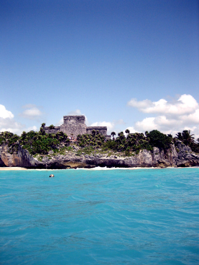 Tulum Ruins from Water 1