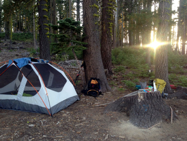 Camp at Genoa Pass