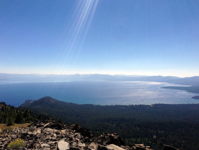 Lake Tahoe from Mt Baldy